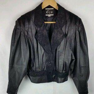 Global identity leather motocycle jacket